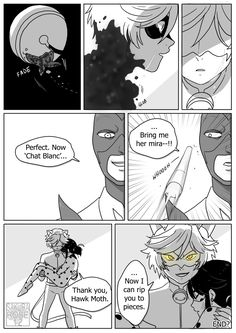 "sakura-rose12: Miraculous Ladybug Comic - Cat Blanc "" you hurt the love of my life I'm gonna destroy you """