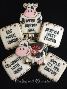 Cow Cookie Set by Cookies with Character