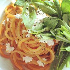 ラモリサーナの四角いパスタ - 10件のもぐもぐ - 壬生菜とトマトクリームパスタ by satowi