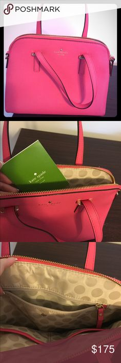 Authentic KATE SPADE hand bag Gorgeous pink Kate spade hand bag, used only a couple of times, Like New!!! kate spade Bags Shoulder Bags