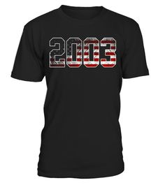 """# 2003 American Flag T-shirt Kid's 14th Birthday Gifts .  Special Offer, not available in shops      Comes in a variety of styles and colours      Buy yours now before it is too late!      Secured payment via Visa / Mastercard / Amex / PayPal      How to place an order            Choose the model from the drop-down menu      Click on """"Buy it now""""      Choose the size and the quantity      Add your delivery address and bank details      And that's it!      Tags: Perfect birthday gifts for…"""