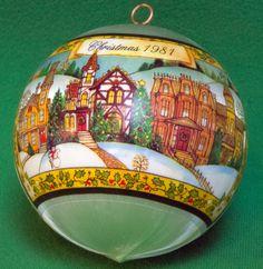 """1981 Hallmark Satin Ornament """"Love In The Home"""" - Still In Box"""