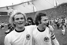 "At the Final of 1974 FIFA World Cup West Germany won the title against the Netherlands (2-1), Ulrich ""Uli"" Hoeness  celebrated with Beckenbauer the world title. It was the culmination of a short career, has won almost every major title of world football.With Bayern, he was three times German Champion and European Cup Winners' Cup. At the age of 27 he had to end his career because of cartilage damage in the knee  and moved to the management of FC Bayern..."