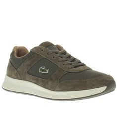 Lacoste Khaki Joggeur Mens Trainers Thanks to the Lacoste Joggeur, theres no need to compromise your style when it comes to staying sporty. This contemporary trainer features a suede and mesh upper, sitting on a cushioned rubber sole fo http://www.MightGet.com/january-2017-13/lacoste-khaki-joggeur-mens-trainers.asp