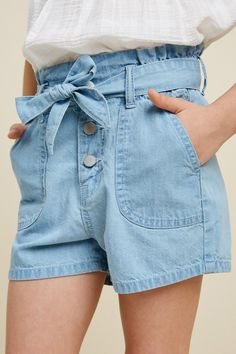 Girls Summer Outfits, Teen Girl Outfits, Outfits For Teens, Summer Clothes, Teen Girl Fashion, Fashion Kids, Girls Denim Shorts, Kids Wardrobe, Cute Swag Outfits
