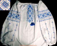 Handmade Ukrainian hand embroidered women's blouse #08-4333 from Western Ukraine, sold on AllThingsUkrainian.com