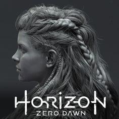 Horizon Zero Dawn - Hair, Johan Lithvall on ArtStation at https://www.artstation.com/artwork/EDbk4