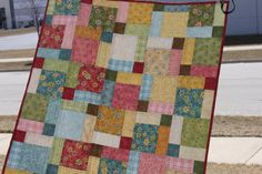 Handmade Patchwork Custom Girls Quilt by PeaceofMeQuilts on Etsy, $85.00