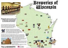 Brewing Place: Wisconsin's Beer Geography Madison Wisconsin, Milwaukee Wisconsin, Lake Michigan, Camping Places, Camping Gear, Door County, All I Ever Wanted, Day Trips, Craft Beer