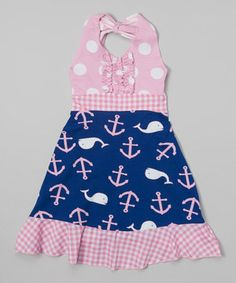 Loving this Navy Whale Halter Dress - Toddler & Girls on #zulily! #zulilyfinds