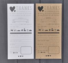 Pack Of 25 Wedding Advice Cards