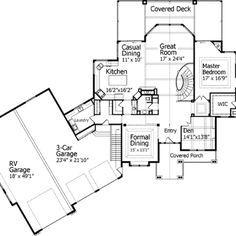 Amazing House Plans With Rv Garage Garages Attached