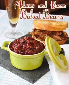 Old Fashioned Molasses and Bacon Baked Beans - this easy recipe has all the flavour of grandma's baked beans; sweet, smoky and delicious.
