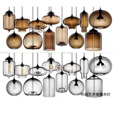 TUR Italy Jeremy Pyles Glass Dining Room Pendant Light Modern Restau… - All For Decoration Kitchen Lighting Design, Dining Room Lighting, Interior Lighting, Cool Lighting, Modern Lighting, Restaurant Bar, Deco Luminaire, Kitchen Ceiling Lights, Modern Pendant Light
