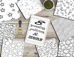 """Check out new work on my @Behance portfolio: """"Figures seamless patterns"""" http://be.net/gallery/55354421/Figures-seamless-patterns"""