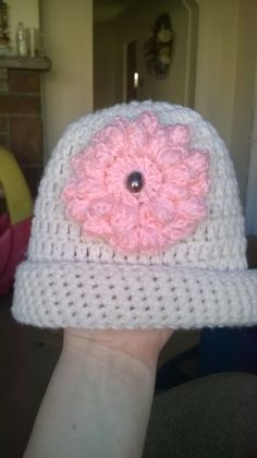 Camryn's hat with flower & bead