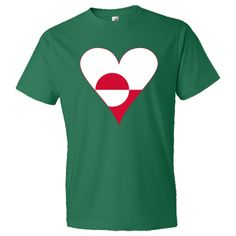 Fun, but funky-looking, #heart-shaped Flag of #Greenland or Greenlander flag has a red border. Wonderful anytime you want to share love and pride in your ethnic heritage, culture and ancestry. Or, perhaps you are a traveler who enjoyed a trip, vacation or holiday. Either way, this design is especially nice for Valentine's Day, Christmas or anytime special. $22.99 http://ink.flagnation.com from your @Auntie Shoe