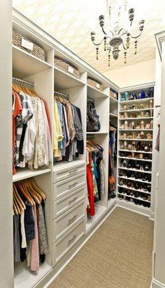53 Elegant Closet Design Ideas For Your Home. Unique closet design ideas will definitely help you utilize your closet space appropriately. An ideal closet design is probably the only avenue towards go. Closet Walk-in, Closet Shelves, Closet Storage, Bedroom Storage, Closet Organization, Closet Ideas, Organization Ideas, Closet Organizer With Drawers, Closet Drawers