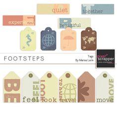 Footsteps Tags Kit kit by Marisa Lerin