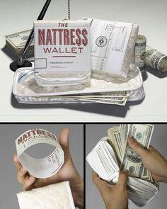 The Mattress Wallet by Steve Cullen, via Behance