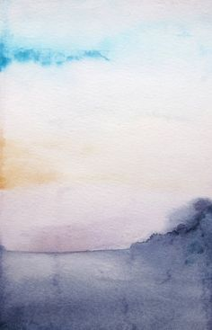 New watercolor painting from Mai Autumn - Dawn - Original 5x7