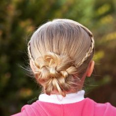 jehat hair — Hallie asked for braided tie backs to a low...