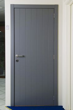 painted plank interior door