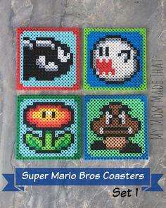 Schemi per Hama Beads Super Mario Bros #hamabeads #supermario
