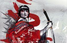 Sep 2012 - Everything samurai. See more ideas about Samurai art, Samurai and Samurai warrior. Fantasy Warrior, Fantasy Art, Arm Sleeve, Female Samurai, Geisha Art, Geisha Drawing, Arte Ninja, Samurai Artwork, Japanese Artwork