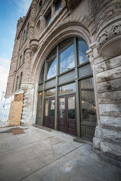 GAR BUILDING, 1942 W Grand River Ave, Detroit, MI. Front Entrance. 06.11.2013 Detroit Ruins, Detroit History, State Of Michigan, Front Entrances, Abandoned Buildings, Public Art, Restoration, Waiting, River