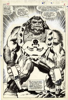 Gallery of Comic Art by Jack Kirby : The Mighty Thor, Issue 137, Page 7 : What if Kirby