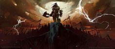 Lords of War: Grommash Hellscream — The Art of Laurel D. Grommash Hellscream, Lord Of War, Orc Warrior, Warlords Of Draenor, Laurel, Concept Art World, Epic Art, Wow Art, Illustrations