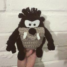 Taz #crochet #chile #handmade  #ganchillo  #amigurumidoll  #amigurumi  #taz #looney #classic #lana by noclearmind