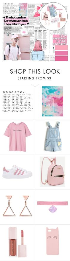 """""""❝ Every Day is a new beginning, take a deep breath and start again ❞                  Kim Seokjin"""" by ceasethenight ❤ liked on Polyvore featuring Oris, GET LOST, MANGO, adidas Originals, Y.R.U., Puma, Maybelline and Charlotte Russe"""