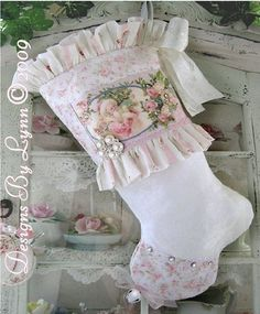 victorian christmas stockings | ... Designs By Debbie DelRosario Sold Only At Victoria Rose Cottage