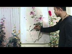 Capture the Spirit of Autumn Roses - a Chinese Watercolor Painting Tutorial - YouTube