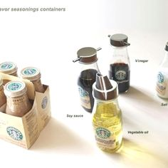 Great way to use old Starbucks bottles