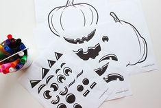Use these free pumpkin printables to build fun jack o lantern faces for Halloween! Jack Lantern, Jack O Lantern Faces, Pumpkin Faces, A Pumpkin, Subtraction Games, Pumpkin Printable, October Crafts, Build Your Own, Halloween Diy
