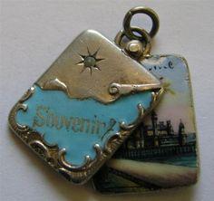 Exquisite Antique French Silver Enamel Slider Locket Souvenir 'Nice' Charm | eBay