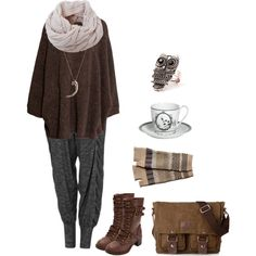 A fashion look from September 2014 featuring H&M sweaters, Charlotte Russe boots and Pamela Love necklaces. Browse and shop related looks.