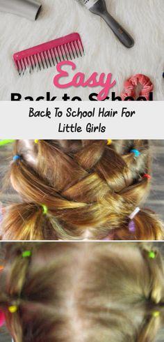 school hair little girls #babyhairstylesDaughters #babyhairstylesDIY #babyhairstylesClips #babyhairstylesPigtails #babyhairstylesWithBows