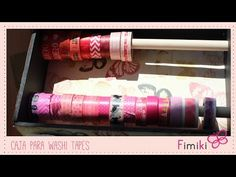 Organización: Caja para washi tapes - YouTube