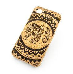 CORK CASE Snap On Cover skin for APPLE IPHONE 5 / 5S - HINDU ELEPHANT MANDALA ganesh goddess of love lotus ohm indian buddhist