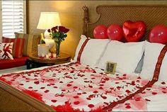 Ideas para decorar una habitación el día de San Valentín -