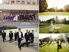 Ohio wedding photography- huge wedding party at country club venue