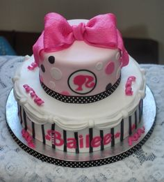 Barbie/Girly Girl Cake By staceytisdale on CakeCentral.com