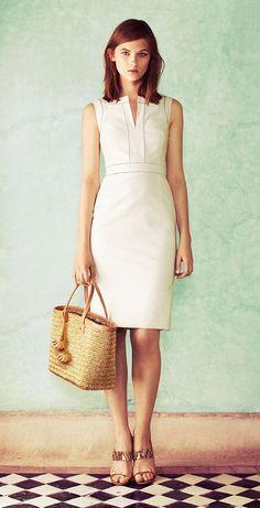 Tory Burch - The Little White Dress: Tailored + Sleek