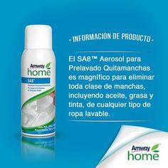 Nobletierra Hogar Ecológico: SA8™ Aerosol para Prelavado Quitamanchas Amway Home, Amway Business, Nutrilite, Amway Products, Cleaning, Productivity, Hair Products, Home Cleaning, Nutrition Guide