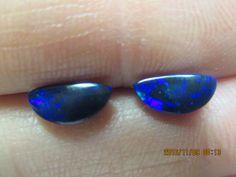 Gorgeous black opal 1/2 moons