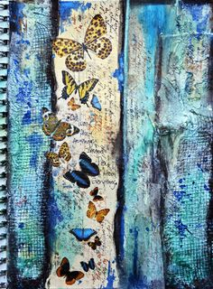 Kelly Foster: All The Pretty Things: 2 Art Journal pages, & a Tag for the July Mixed Media Kit